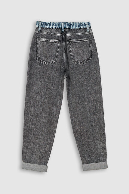 Jeans Taille Haute Fille - Mom Snow