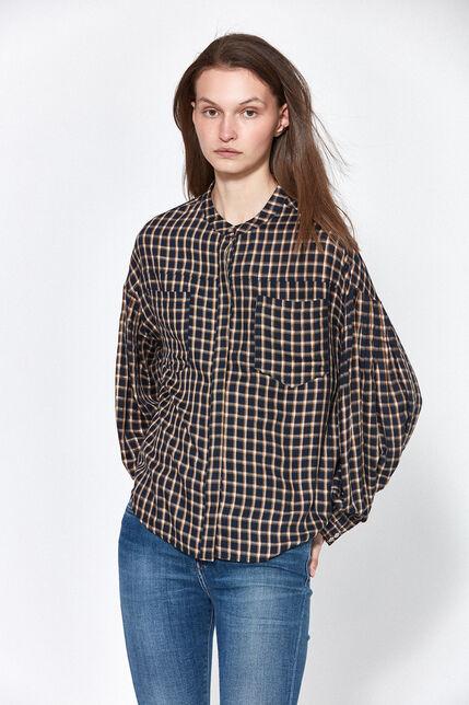 Chemise à Carreaux Ample Femme - Cora