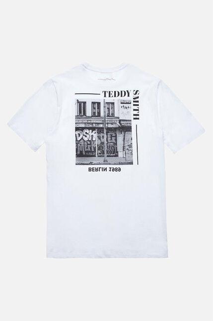 T-Shirt Blanc Imprimé - Kendrick junior