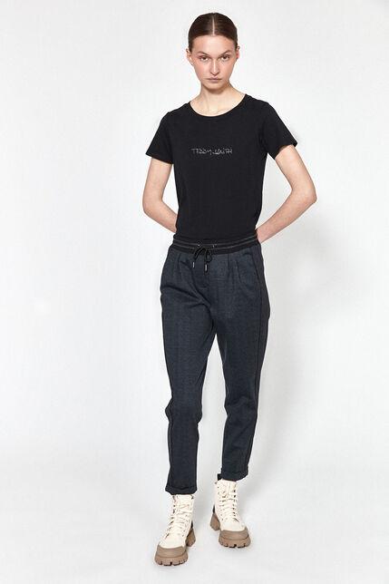 Pantalon Avec Revers à L'Ourlet Femme - Teddy Jogo