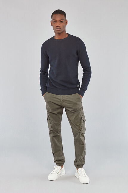 Pull Col Rond Jacquard Homme - Acker