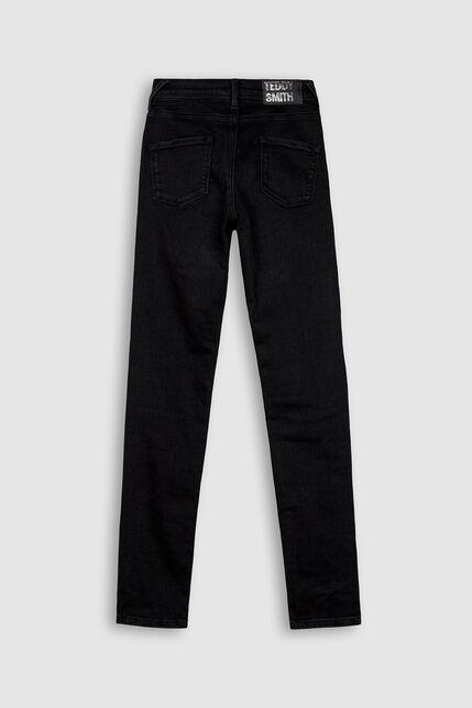 Jeans Taille Elastique Fille  Poche Plaquées - The Jeg