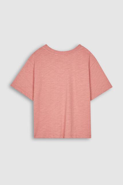 T-Shirt Poche Poitrine Fille - Hazy