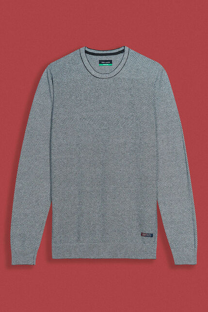Pull Col rond Jacquard Homme - Milan