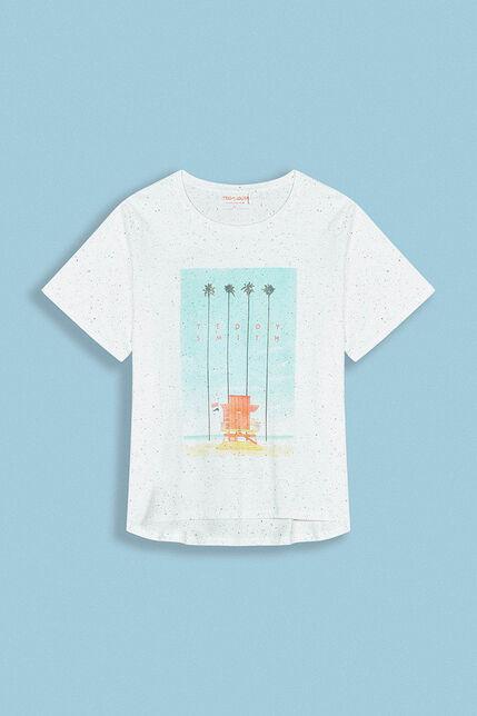 T-Shirt Imprimé Plage Femme - Nepsy