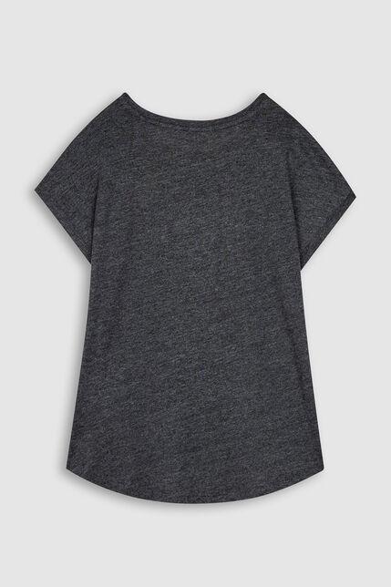 T-Shirt Bas Arrondi Fille - Tiba