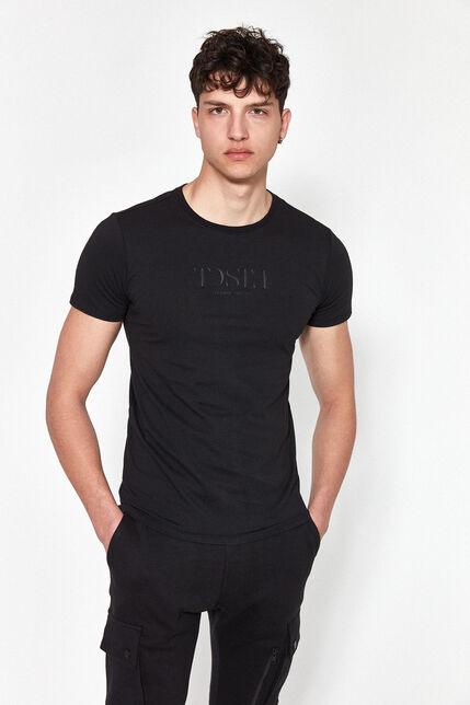 T-Shirt Col Rond Avec Ourlets Logo Relief Homme - Gabriel
