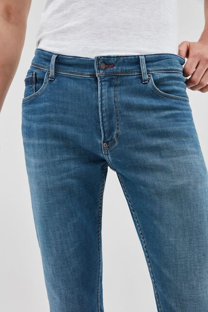REEPLE jean slim, GRIS BLEU, large