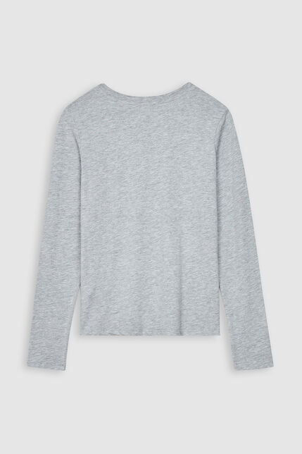 T-Shirt Manches Longues Logo Pailleté Fille - Ticia 2
