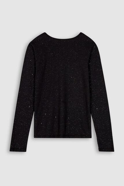 T-Shirt Jersey Pailleté Fille - Telle