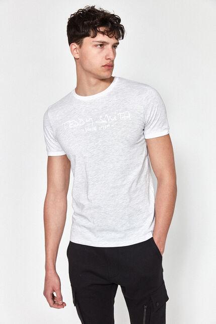 T-Shirt Col Rond Logo Imprimé Poitrine Homme - Ringer Plus