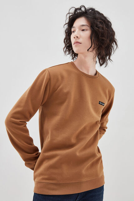 NARK sweat col rond, TABACCO, large