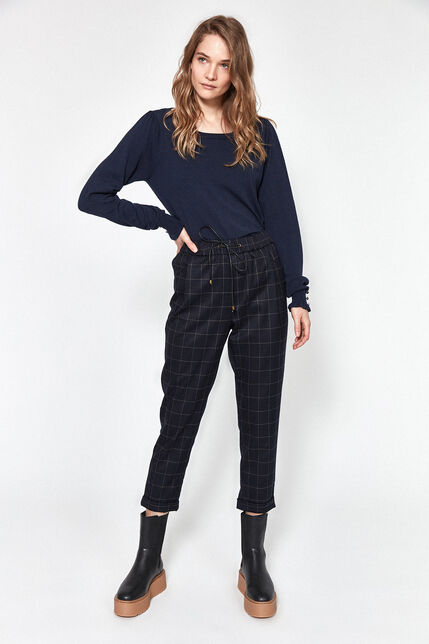 Pantalon à Carreaux Femme - Teddy New
