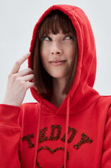 SOFRENCH sweat capuche, PATRIOT RED, large
