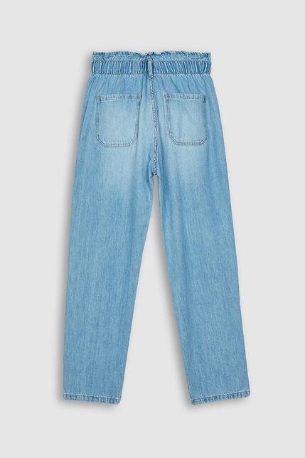 Jeans Fille Taille Elastique - Emy Pocket